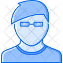 Barbershop Male Glasses Icon