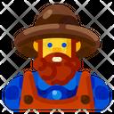 Male Farmer Farm Icon