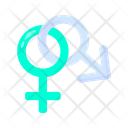 Male And Female Cannabis Marijuana Icon
