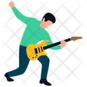 Concert Rock Star Guitar Player Icon