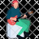 Rock Star Playing Guitar Guitar Player Icon
