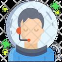 Male Astronaut Icon