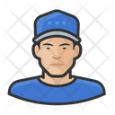 Male Baseball Player Baseball Caps Icon