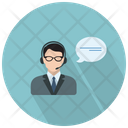 Male Call Assistant Icon