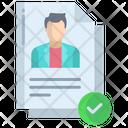 Artboard Male Candidate Profile Election Form Icon