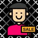 Male cashier Icon
