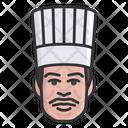 Male Chef Cook Food Preparer Icon