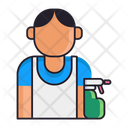 Male Cleaner Icon