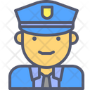 Male Cop Cop Officer Icon