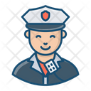 Police Officer Male Cop Policeman Icon