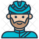 Cyclist Male Avatar Icon