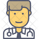 Male Doctor Doctor Consult Icon