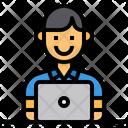 Employee Worker Laptop Icon