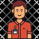 Male Employee Employee Receptionist Man Icon