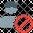 Male Employee Banned No Male Employee No Employee Icon