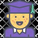 Male Graduate Graduate Male Icon