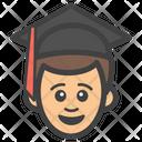 Male Graduate Graduate Student Postgraduate Icon