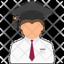 Male Graduate Student Male Student Icon