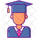 Male Student Graduation Hat Icon