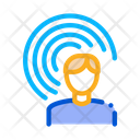 Male Hearing Sense Icon