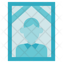 Funeral Male In Memorial Photo Icon
