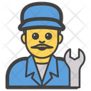 Male Mechanic Icon