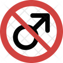 Male not allowed Icon