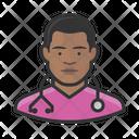 Male Nurse Black Male Nurse Icon