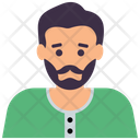Bearded Man Hipster Male Avatar Icon