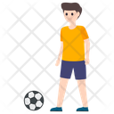 Male Player Sportsman Soccer Player Icon