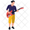 Male Playing Guitar Icon