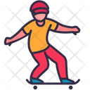 Male Playing Skateboard Icon