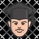 Male Scholar Graduate Student Icon