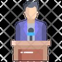 Artboard Male Speaker Conference Icon