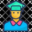 Graduate Male Student Icon