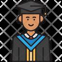 Male Student Graduate Icon