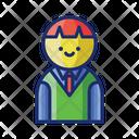 Male Student School Uniform Icon