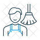Male Sweeper Icon
