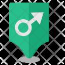 Male Geo Pointer Icon