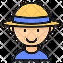Male Traveller Tourist User Icon