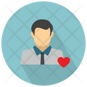 Male User With Heart Icon