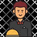 Male Waiter Waiter Man Icon