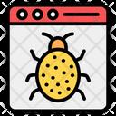Malicious Website Online Virus Webpage Bug Icon