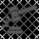 Judge Hammer Judgment Icon