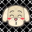 Maltese Dog Kissing Icon