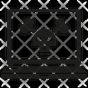 Malware Network Security Virus Icon