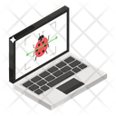 Malware Scanner Bug Detection Anti Malware Icon