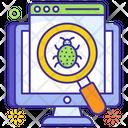 Virus Bug Scanner Internet Spider Icon