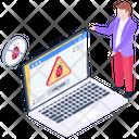 Hacked Website Malware Website Web Virus Icon