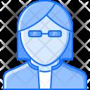 Jacket Glasses Rocker Icon